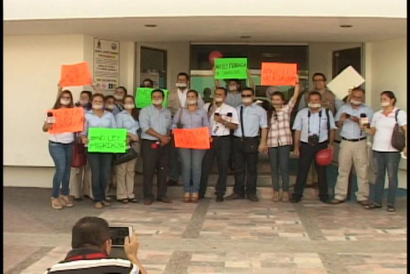 """Siguen las protestas de periodistas contra la """"ley mordaza"""""""