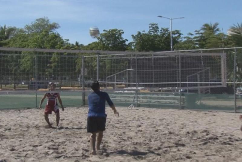 En marcha   olimpiada de volibol de playa varonil