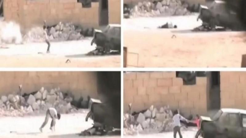 Niño sirio rescata a niña en medio de tiroteo