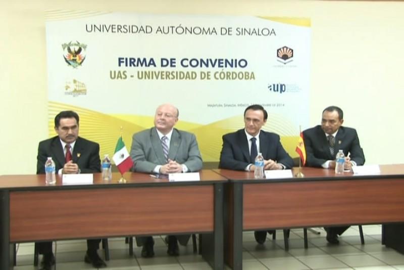 Firma UAS convenio con la Universidad de Córdoba