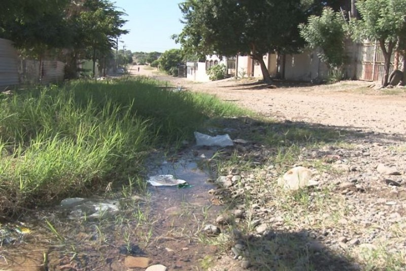 Denuncian fuga de agua en la Díaz Ordáz