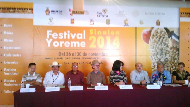 Festival Yoreme Sinaloa del 26 al 30 de noviembre