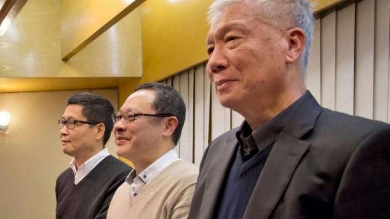 Líderes de protestas en Hong Kong anuncian su entrega