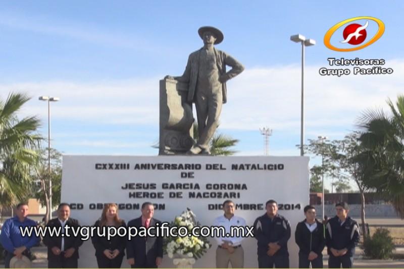 Celebra Ayuntamiento 133 natalicio de Jesús García Corona