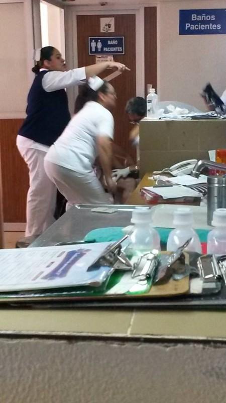 Se dispara arma de guardaespaldas de la presidenta del DIF en el hospital general