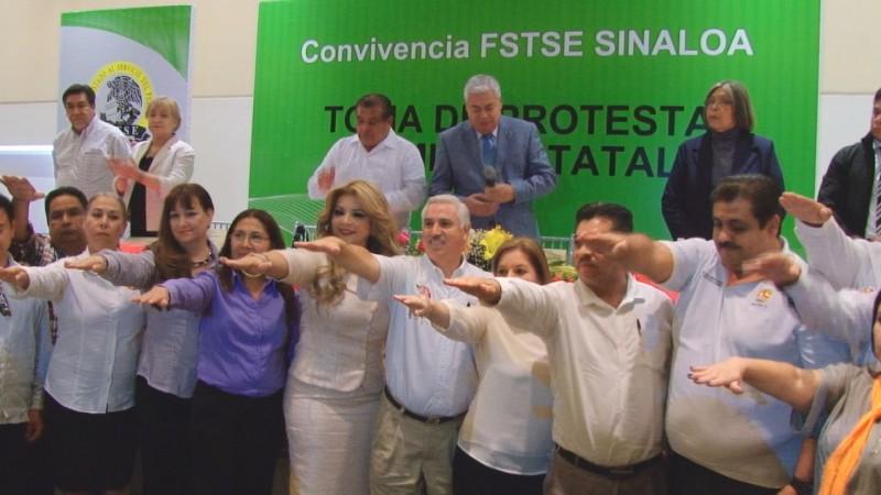 Rinde protesta Arcelia Prado como secretaria general del comité estatal de la FSTSE