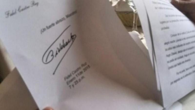 Envía Fidel Castro carta a Maradona