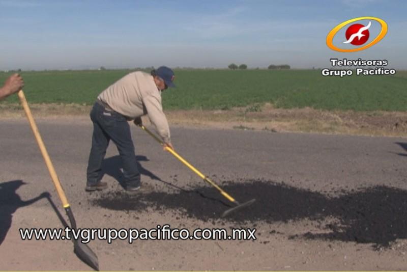 Rehabilitan tramos dañados en el Valle del Yaqui