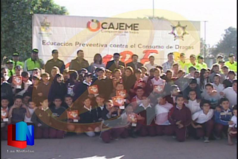 Llega el programa D.A.R.E a la primaria Jaime Nuno