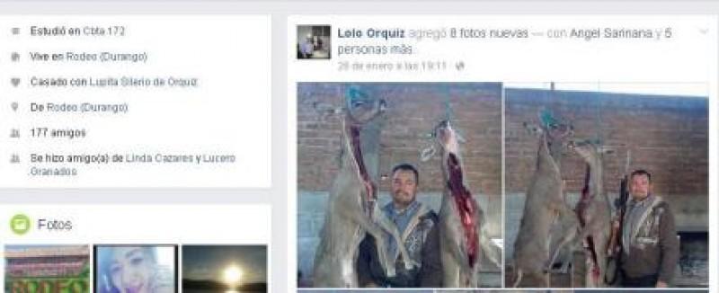Funcionario de Durango presume haber cazado dos venados cola blanca