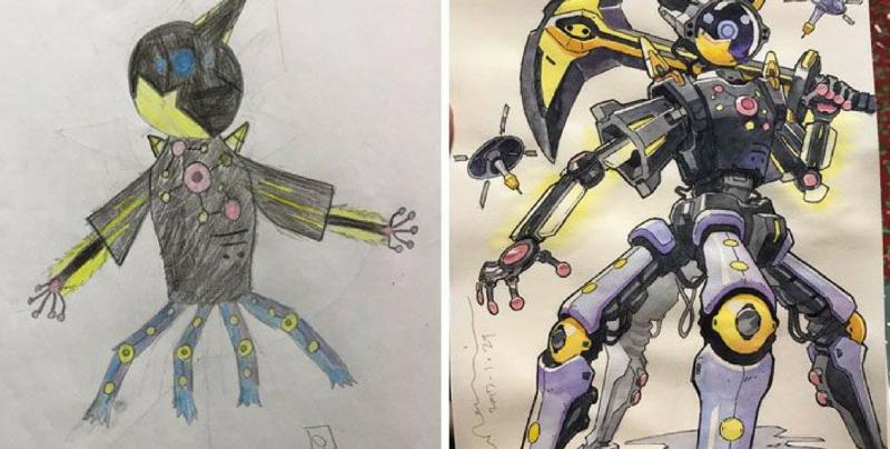 Padre Transforma Los Dibujos De Sus Hijos En Diseños De