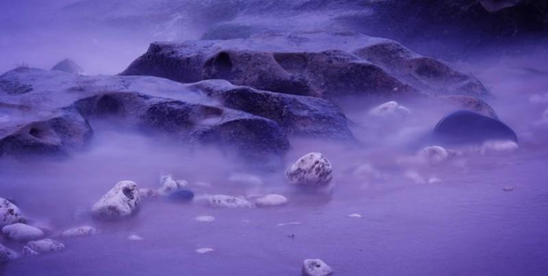 #Fotos Por esta razón un lago ruso se vuelve violeta