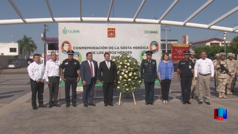 Se conmemora con ceremonia cívica a los Niños Héroes