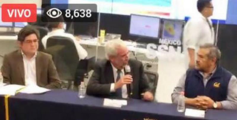 #Video Expertos de la UNAM ofrecen conferencia del sismo ocurrido