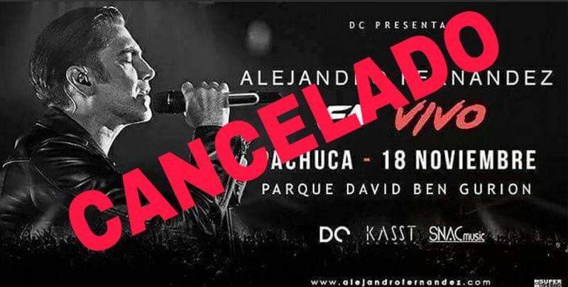 A pocas horas del concierto cancelan presentaci n de for Cancion en el jardin de alejandro fernandez