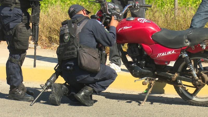 Elementos de la policía federal realizan operativos en Ahome