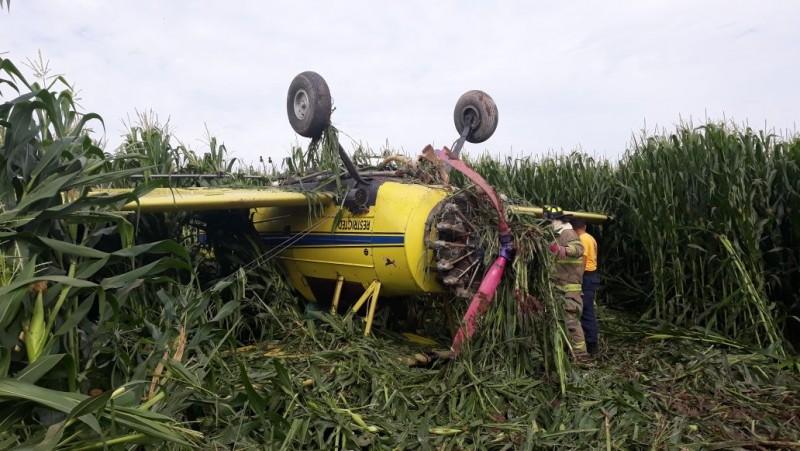 Se desploma avioneta de fumigación