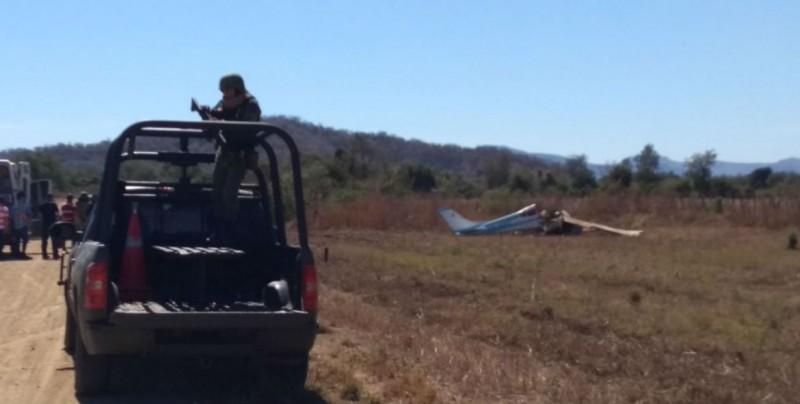 Mueren 2 personas tras caída de avioneta en Culiacán, Sinaloa