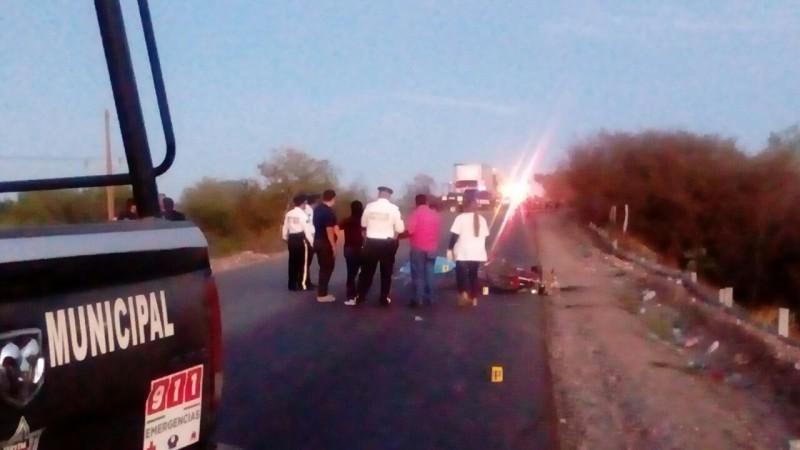 Choca ciclista y motociclista, uno muere