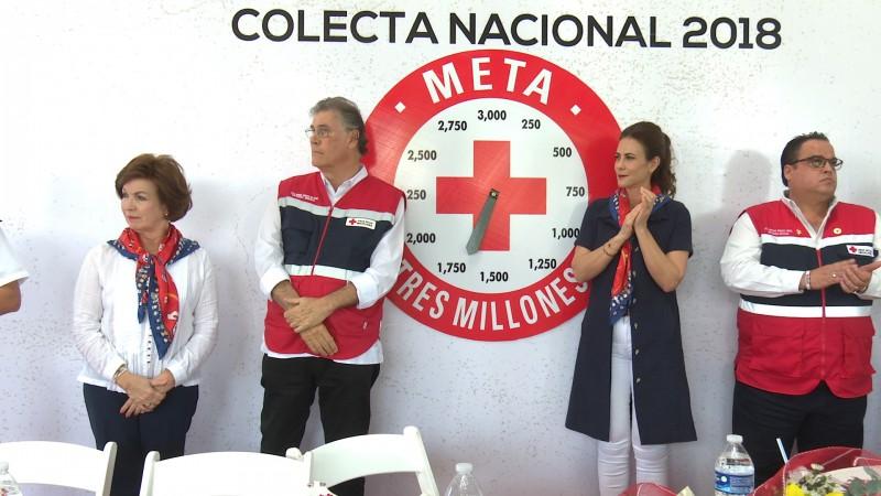 Arranca la colecta 2018 de la Cruz Roja Mexicana