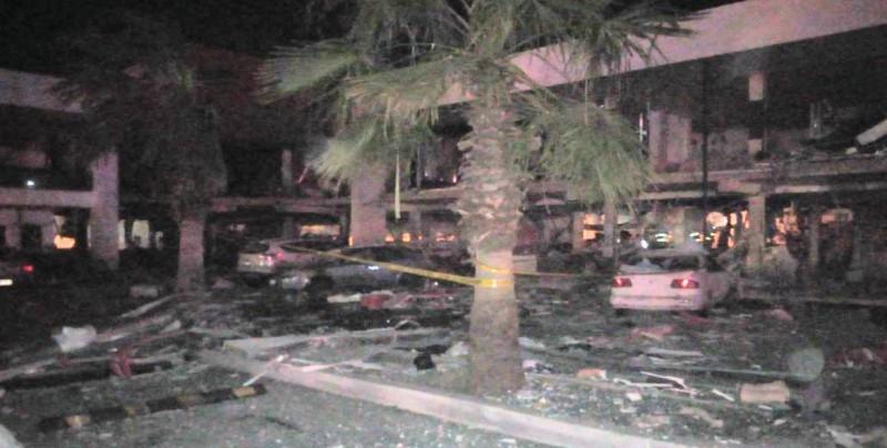 Explosión en plaza comercial de Culiacán provoca daños en 17 casas