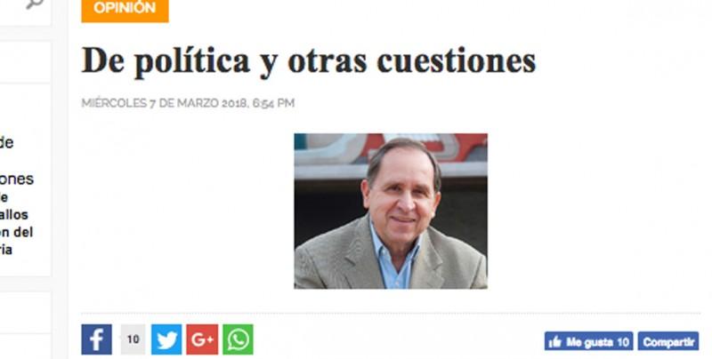 Presidente del Tec de Monterrey no es autor de columna sobre Meade