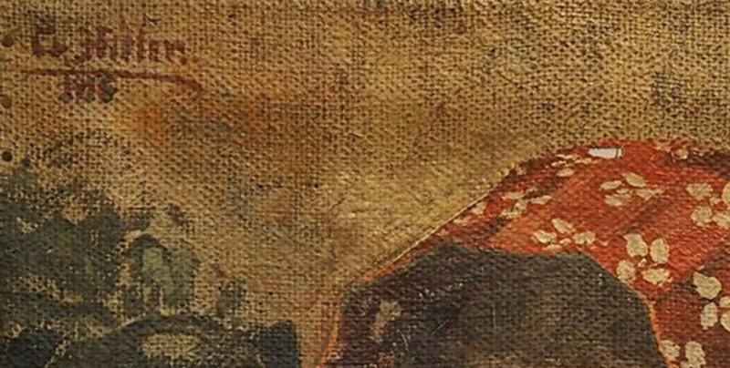 Subastan retrato de una amante de Hitler pintado por él mismo