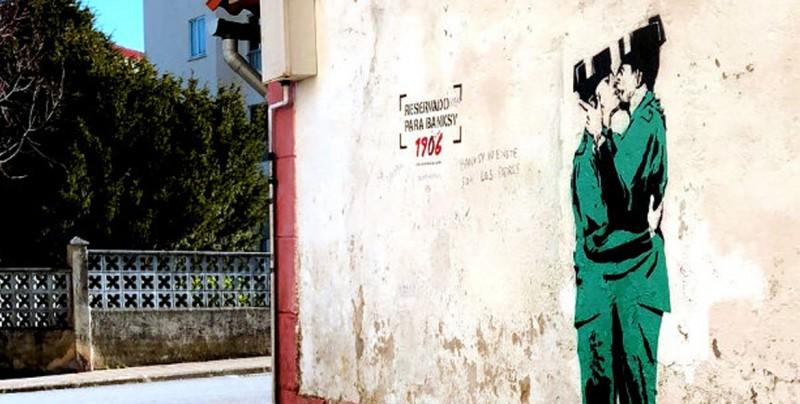 ¿Este es el primer graffiti de Banksy en España?