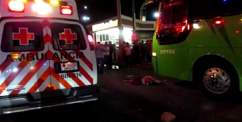 Muere mujer mayor atropellada por camión urbano