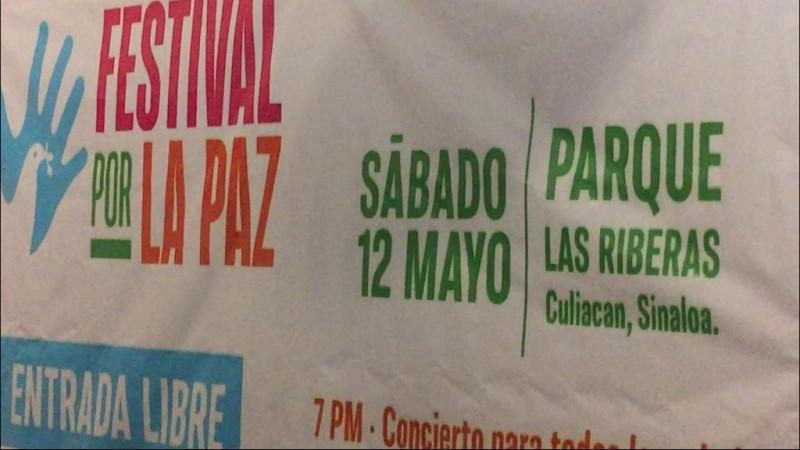 Anuncian Festival por la Paz