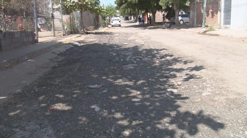 Denuncian mal estado de las calles en Villa Bonita