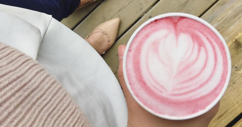 ¿Ya probaste el pink latte?