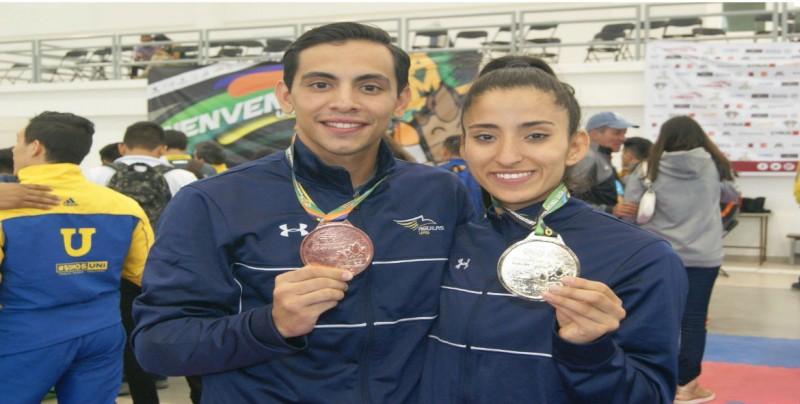 Yamilet Terrazas da oro a la UAS en Karate