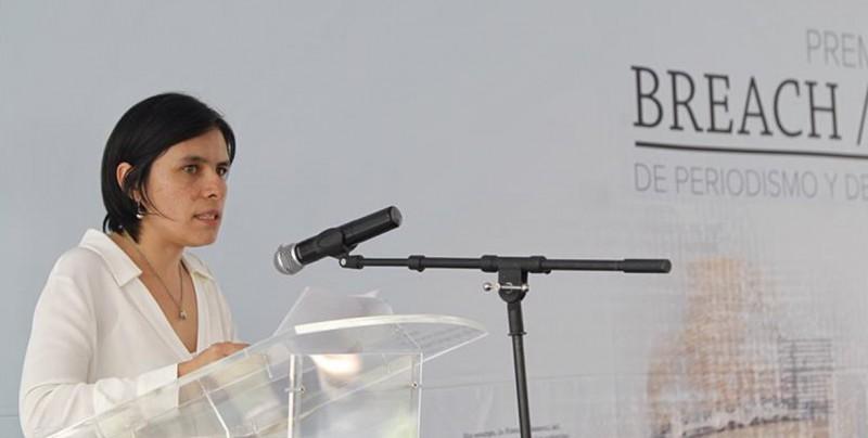 Daniela Rea, ganadora de primer Premio Breach/Valdez de Periodismo y DD.HH