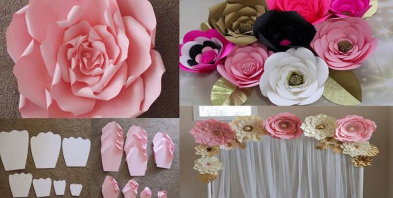 Cómo hacer flores de papel gigantes para eventos