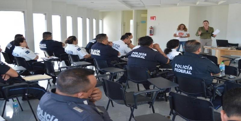Elementos de la PFP se capacitan sobre prevención de la violencia