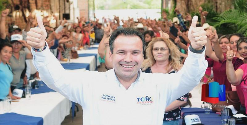 Candidato anuncia apoyos a Sonorenses