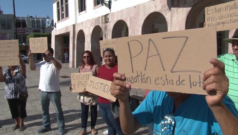 Ciudadanos exigen seguridad en Mazatlán