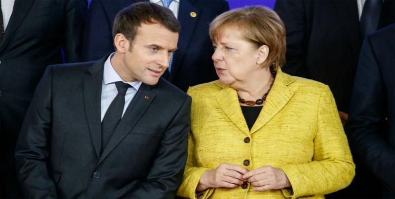 Macron presiona a Merkel para reformar Europa al recibir el Premio Carlomagno