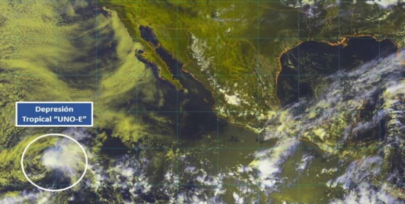 Depresión tropical Uno-E se forma en el Pacífico