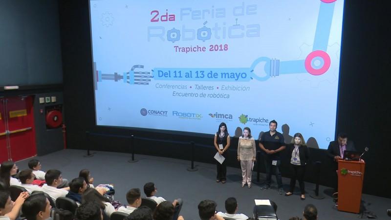 Inicia segunda feria de robótica Trapiche 2018