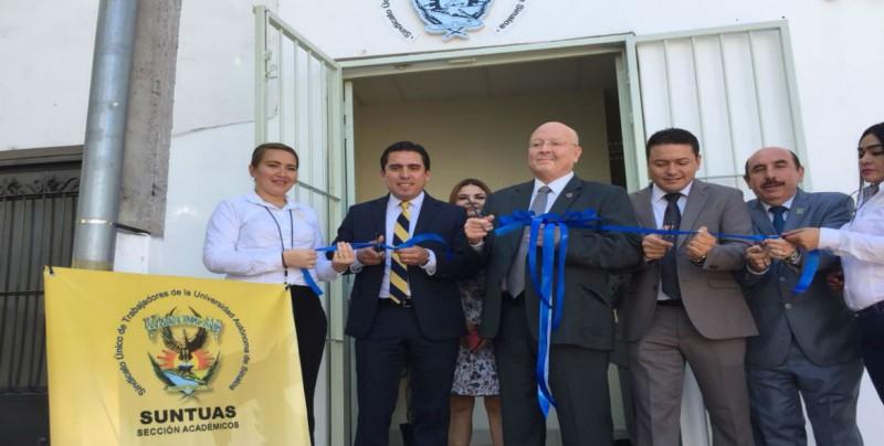Inauguran Centro de Estudios Sindicales del Suntuas-Académicos