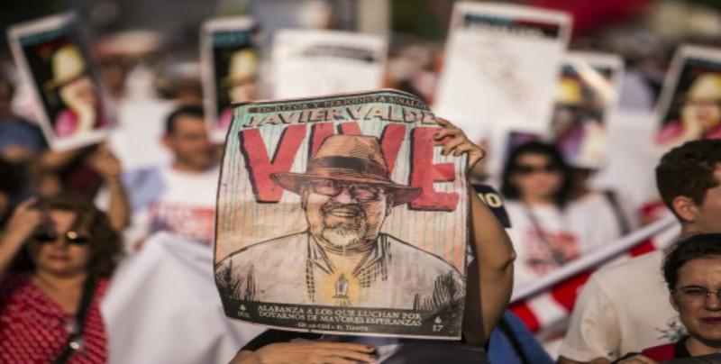 Realizan protestas por primer año del homicidio de Javier Valdez