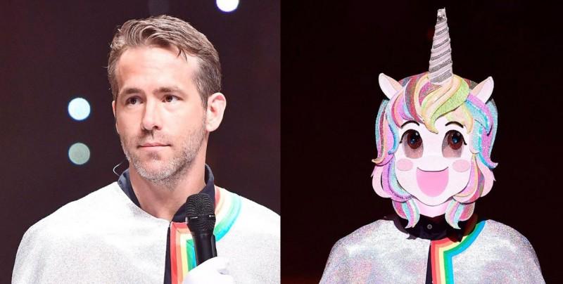 Ryan Reynolds se disfraza de unicornio y compite en un programa musical