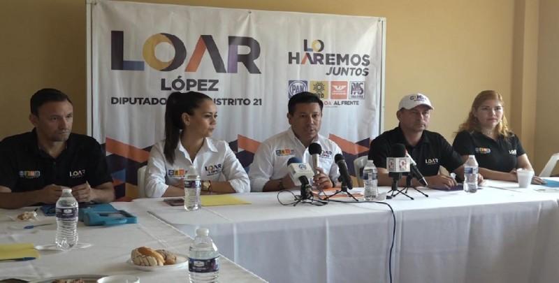 Loar López señala sus prioridades como candidato