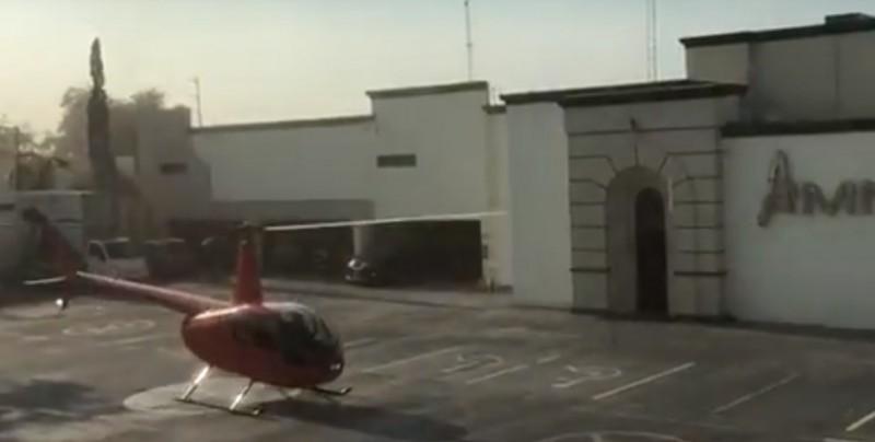 #Video Sorprende al llegar en helicóptero a famoso table dance
