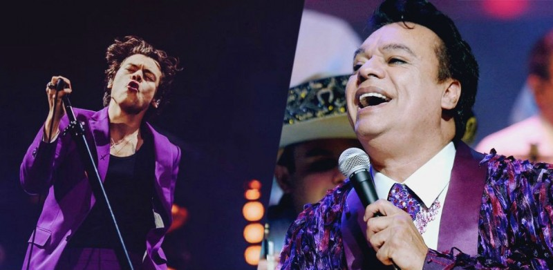 ¿Harry Styles se inspira en atuendos de Juan Gabriel?