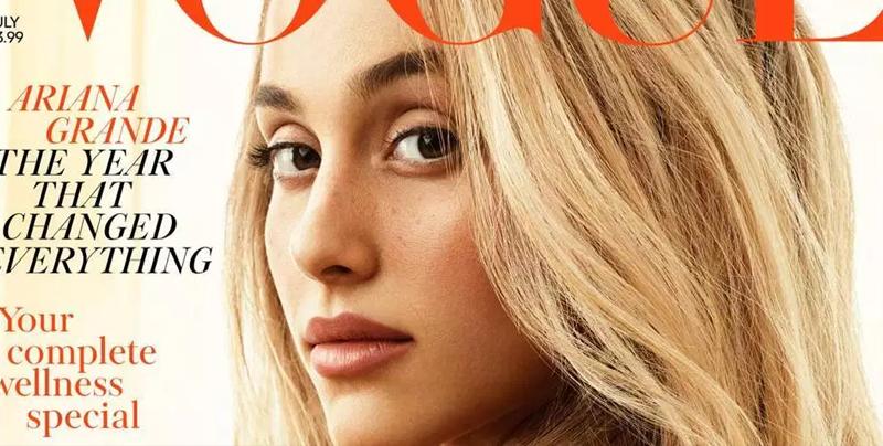 Ariana Grande luce cabello rubio para la portada británica de Vogue