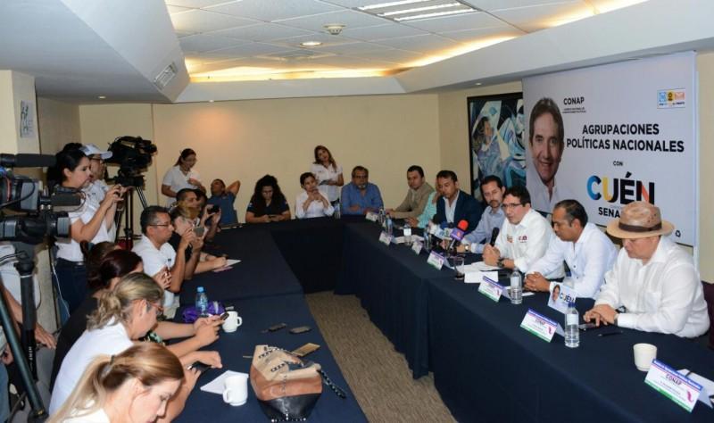 Conap respalda candidatura de Cuén Ojeda