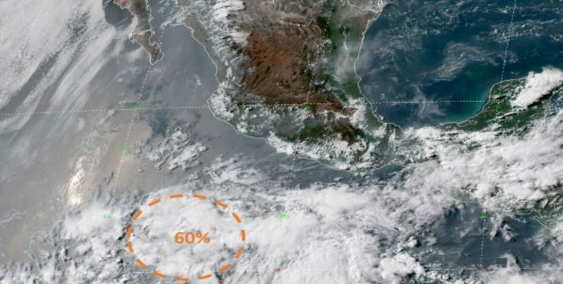 Alerta por baja presión en costas de Michoacán y Guerrero